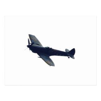 Hurricane fighter in flight postcard