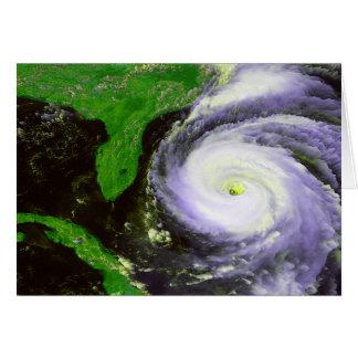 Hurricane Fran Off Florida - 1996 Satellite Image Card