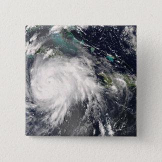 Hurricane Gustav over Jamaica 2 15 Cm Square Badge