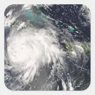 Hurricane Gustav over Jamaica 2 Square Sticker