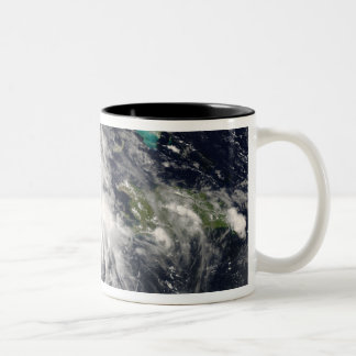 Hurricane Gustav over Jamaica 2 Two-Tone Coffee Mug