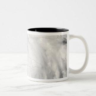 Hurricane Gustav over Jamaica Two-Tone Coffee Mug
