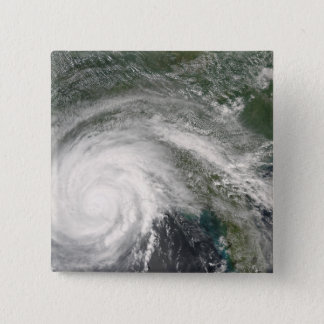 Hurricane Gustav over Louisiana 15 Cm Square Badge