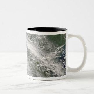 Hurricane Gustav over Louisiana Two-Tone Coffee Mug