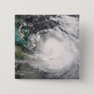 Hurricane Hanna over the Bahamas 15 Cm Square Badge