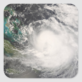 Hurricane Hanna over the Bahamas Square Sticker