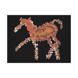 Hurricane Horse Gallery Wrapped Canvas
