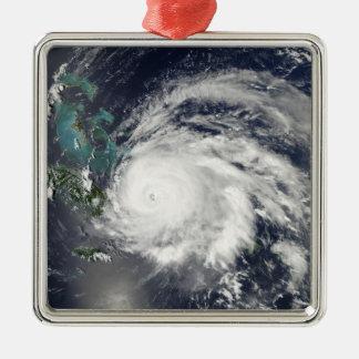 Hurricane Ike over Cuba, Hispaniola Silver-Colored Square Decoration