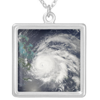 Hurricane Ike over Cuba, Hispaniola Silver Plated Necklace