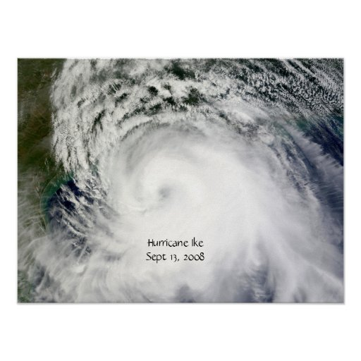 Hurricane Ike (Sept 13, 2008) Poster