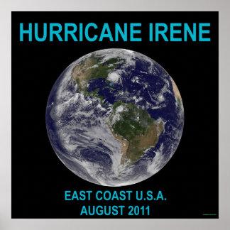 Hurricane Irene 3 ft Poster Print