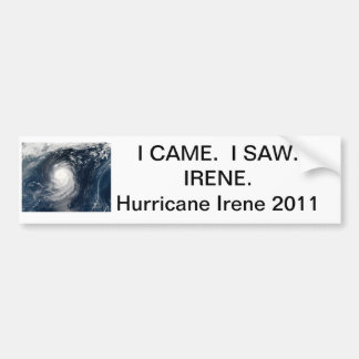 Hurricane Irene Bumper Sticker.