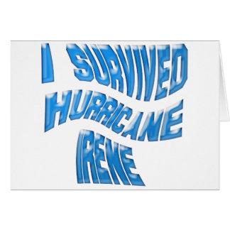 Hurricane Irene Greeting Card