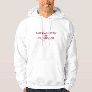 Hurricane irene hooded sweatshirts