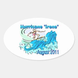 """Hurricane """"Irene"""" Sticker"""