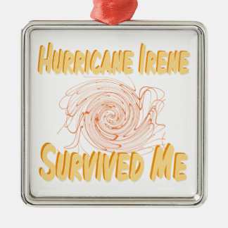 Hurricane Irene Survived Me Silver-Colored Square Decoration