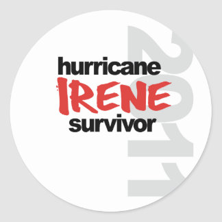 Hurricane Irene Survivor 2011 Round Sticker