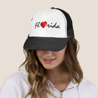 Hurricane Irma Florida Heart Support Trucker Hat
