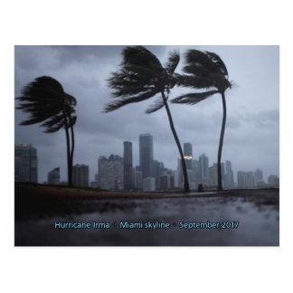 Hurricane Irma Miami skyline Postcard