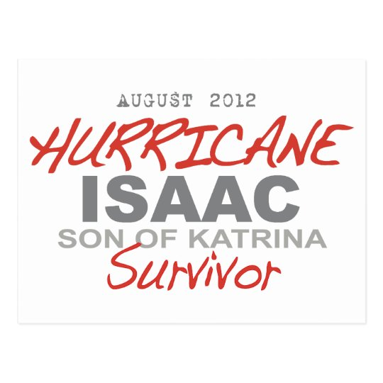 Hurricane Isaac Survivor Postcard