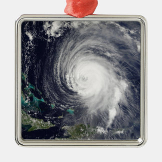 Hurricane Isabel 2 Silver-Colored Square Decoration