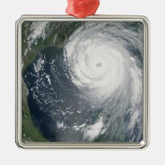 Hurricane Katrina 2 Square Metal Christmas Ornament