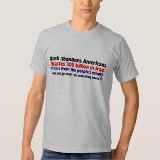 Hurricane Katrina Bush politics Shirt