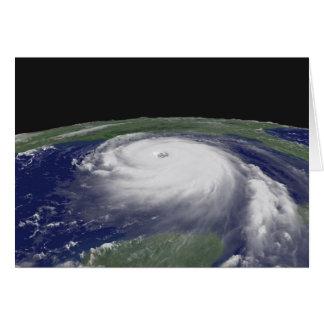 Hurricane Katrina Satellite image Greeting Card