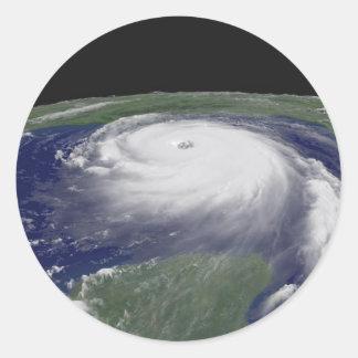 Hurricane Katrina Satellite image Round Sticker