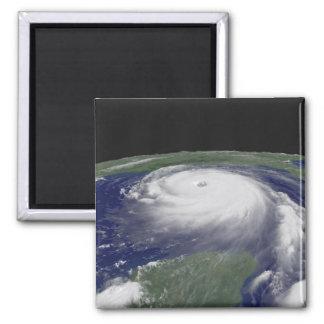 Hurricane Katrina Satellite image Square Magnet