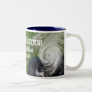 Hurricane Katrina, Satellite Image Two-Tone Coffee Mug