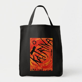 Hurricane Katrina Grocery Tote Bag