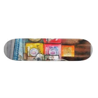 Hurricane Lamp and Scale Skateboard Deck