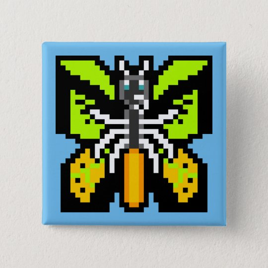 Hurricane Maker, Goliath Birdwing Butterfly 15 Cm Square Badge