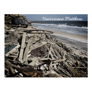 Hurricane Matthew 2016 Florida Beach Coastline Postcard