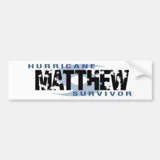 Hurricane Matthew October 2016 Bumper Sticker