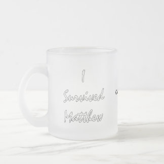 Hurricane Matthew Survivor Frosted Glass Coffee Mug