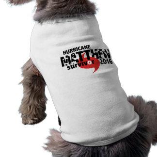 Hurricane Matthew Survivor October 2016 Sleeveless Dog Shirt
