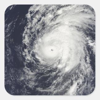 Hurricane Neki west of Hawaii Square Sticker