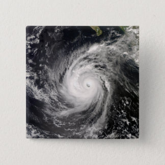 Hurricane Norbert off Mexico 15 Cm Square Badge