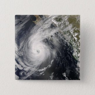 Hurricane Norbert off Mexico 2 15 Cm Square Badge