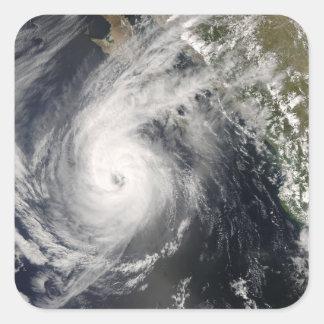 Hurricane Norbert off Mexico 2 Square Sticker