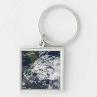 Hurricane Paloma 2 Silver-Colored Square Key Ring