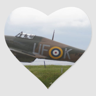 Hurricane Ready For Takeoff Heart Sticker