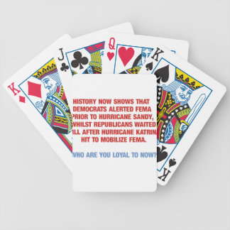 Hurricane Sandy and Katrina Politics Deck Of Cards