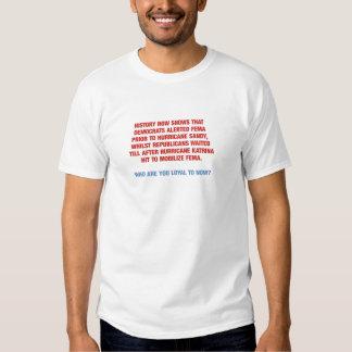 Hurricane Sandy and Katrina Politics T Shirts