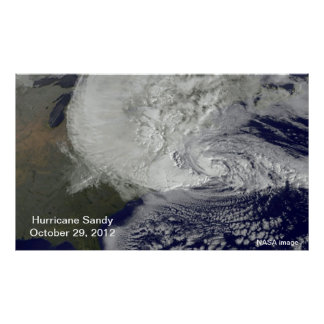 Hurricane Sandy Large Poster