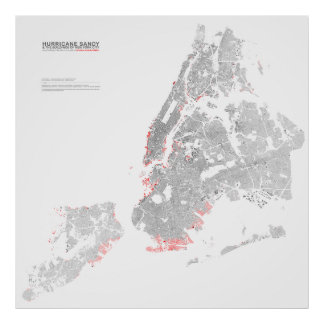 Hurricane Sandy & the Buildings of New York II Poster