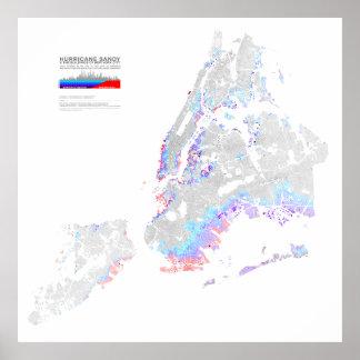 Hurricane Sandy & the Buildings of New York Print