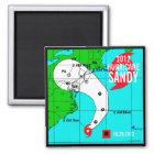 Hurricane Sandy Track Magnet 2